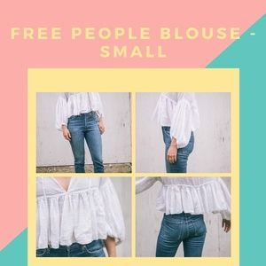 FREE PEOPLE Crop Blouse - Small
